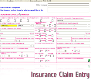 insurance claim entry